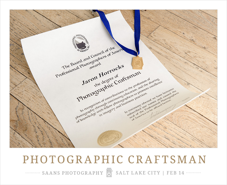 PPA Award Photographic Craftsman